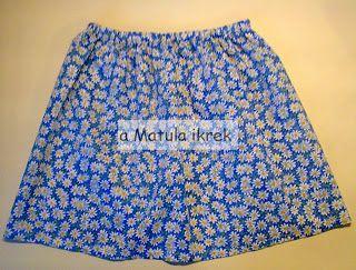 a Matula ikrek blogja (avagy... Mit varrnak a Matula ikrek?) - elastic gathered floral girls skirt