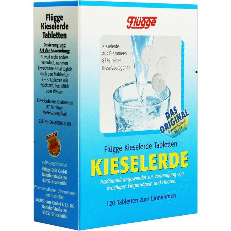 FLUEGGE Kieselerde Tabletten:   Packungsinhalt: 120 St Tabletten PZN: 06059709 Hersteller: SALUS Pharma GmbH Preis: 6,07 EUR inkl. 7 %…