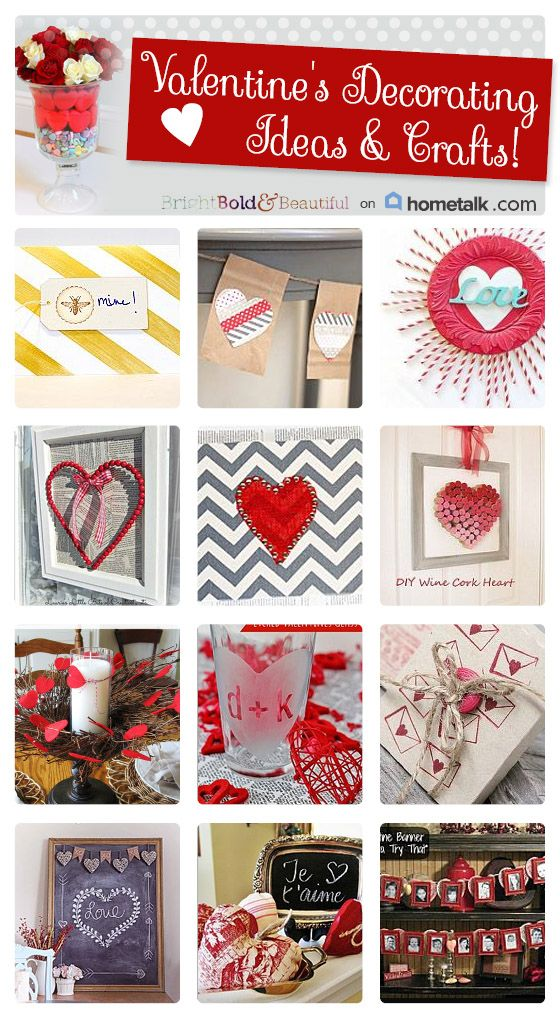 18 Valentine's Crafts and Decorating Ideas