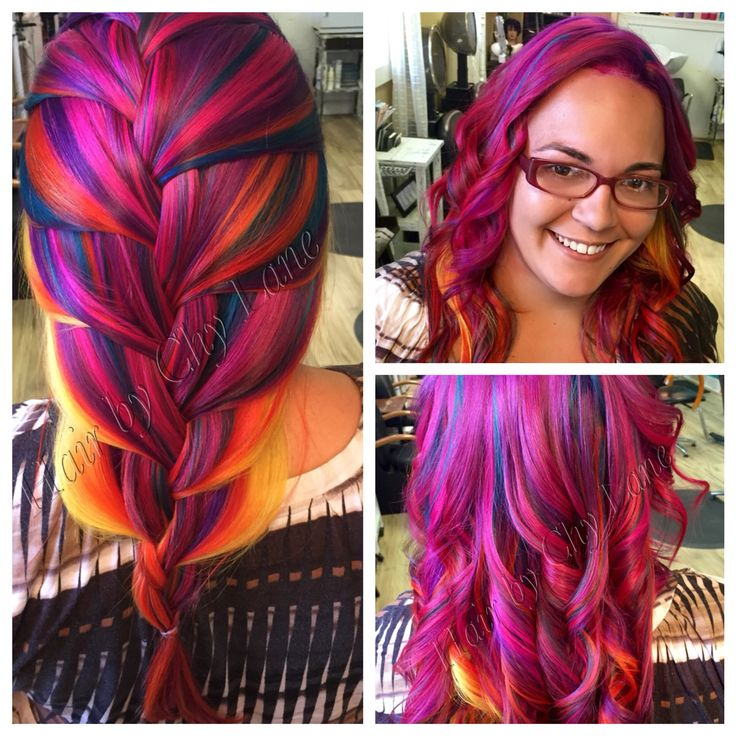 Rainbow hair by Chyane Lane Latest hair trends, Hair
