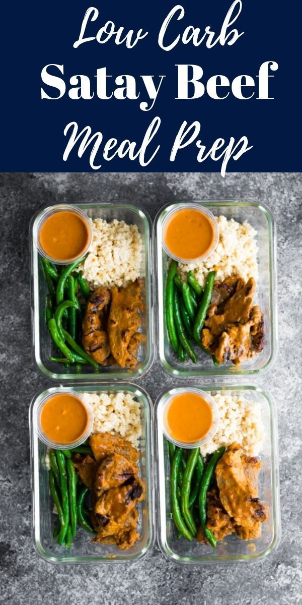 Low Carb Satay Beef Meal Prep Recipe Beef Recipes Meal Prep Meal Prep Bowls