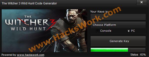 The Witcher 3 Wild Hunt Code Generator (PC/PS3,4 & Xbox 360/One)   www.HacksWork.com