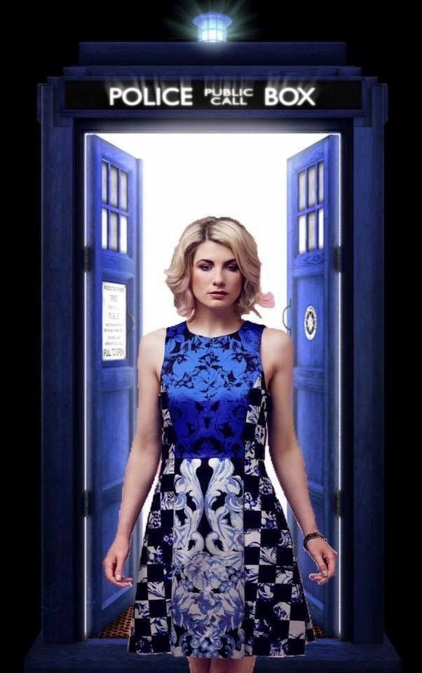 Great image - great dress.  So excited for a female Doctor