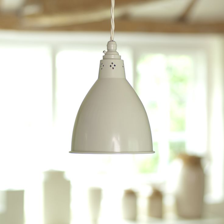 The #Barbican #Pendant #Light in #Clay is perfect in a #kitchen, #hallway or #diningroom.