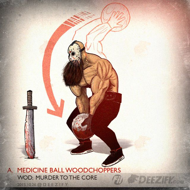 Medicine Ball Woodchoppers to target your abs