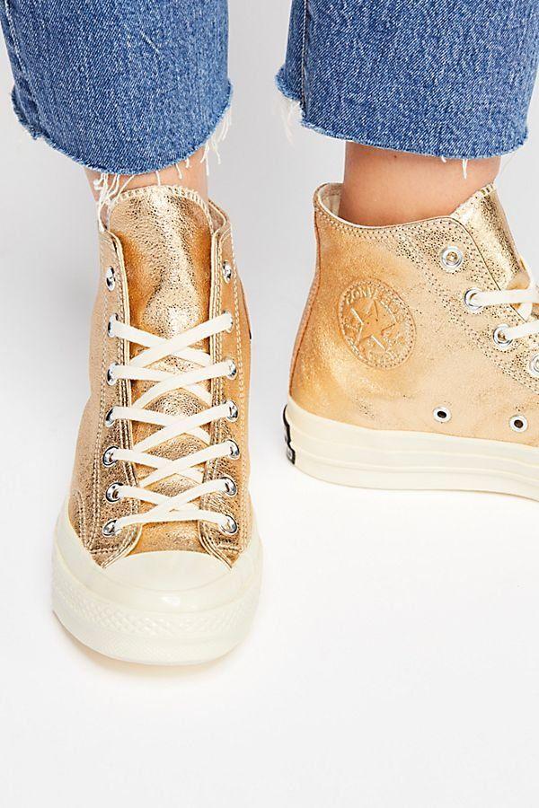 2e888801c76 Metallic Platform Hi Top Chuck - Metallic Gold Hi Top Sneakers
