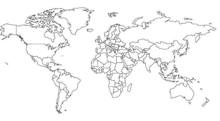 Weltkarte Zum Ausmalen - AZ Ausmalbilder