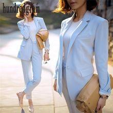 Femmes carrière costumes femelle 2017 Printemps et Automne à manches longues costume veste pantalon casual two-piece-dod380(China (Mainland))