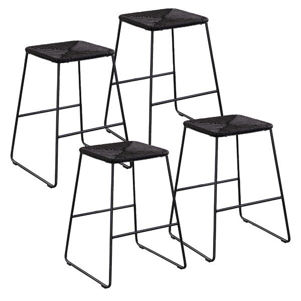 Marvelous Nordquist Stackable 4 Piece 25 5 Patio Bar Stool Set Cjindustries Chair Design For Home Cjindustriesco
