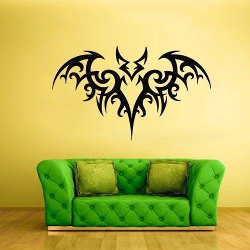 Хэллоуин винил стена наклейка хэллоуин бита вьющийся этнический этнический росписи искусство стена наклейка спальня ну вечеринку витрина украшение
