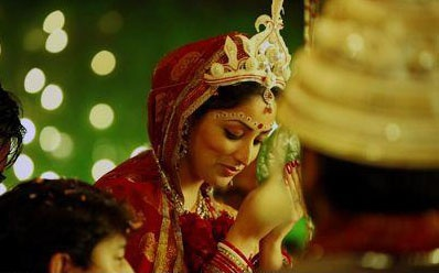 A bride in a Bengali wedding :)