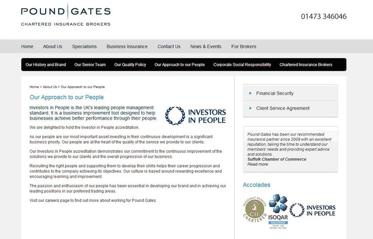Pound Gates Chartered Insurance Brokers are Investors in People