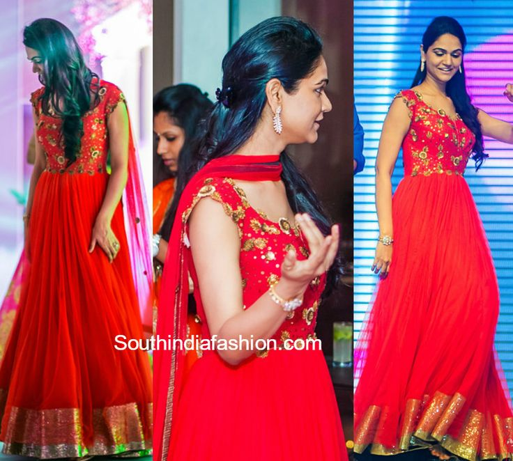 Sneha Reddy in Pranthi Reddy Anarkali