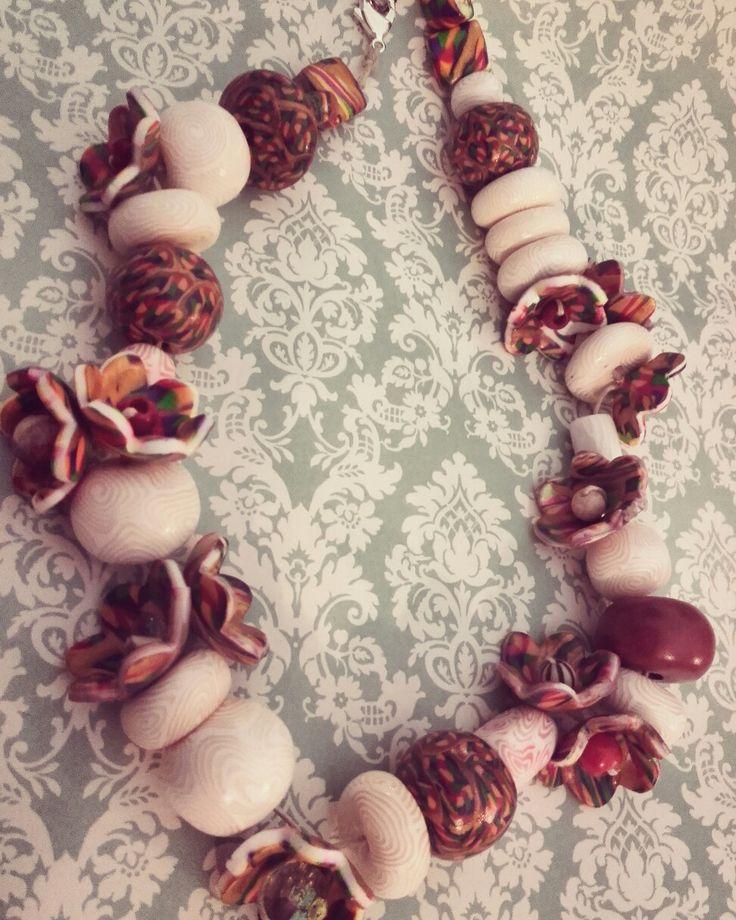 Perle e fiori...di fimo