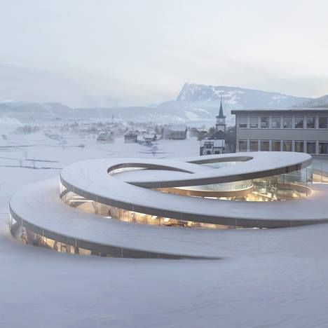 (Pic) Bjarke Ingels has unveiled a spiralling museum designed for a Swis...