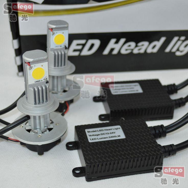 1 компл. привело H16 PSX24W фар Автомобиля CREE 6000 К СВЕТОДИОДНАЯ лампа 2400 Люмен 12 В 24 В автомобильные фары освещение автомобиля H1/H3/H7/H11/9005/9006