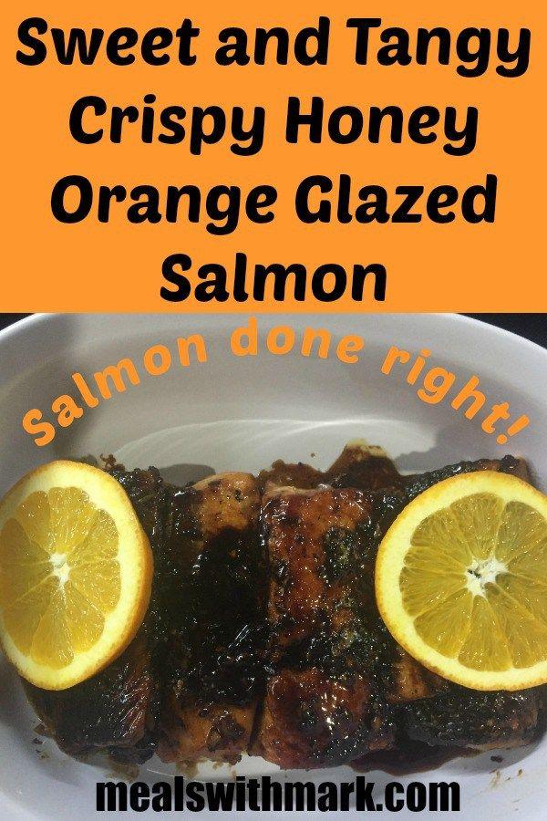 Sweet and Tangy Crispy Honey Orange Glazed Salmon! Salmon done Right!