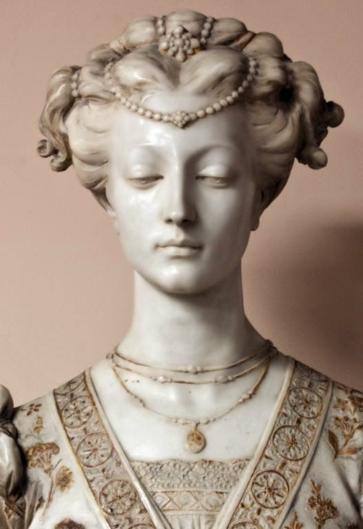 HOME & GARDEN: 20 idées de bustes décoratifs - Matelda, 19th Century French marble gilded bust