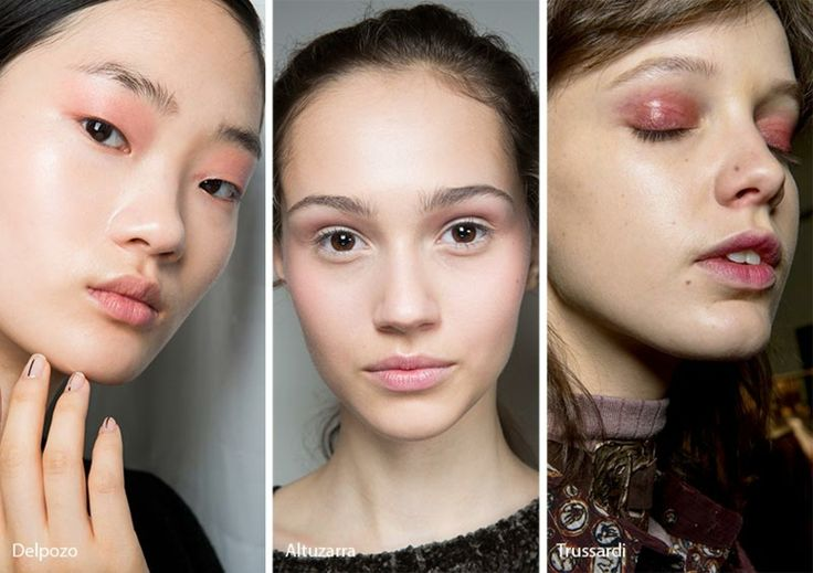maquillaje - sombras rosadas