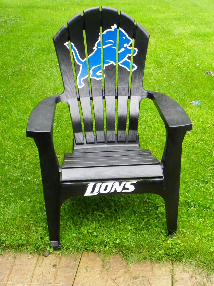 Detroit Lions Team chairs by standoutdesigns on Etsy
