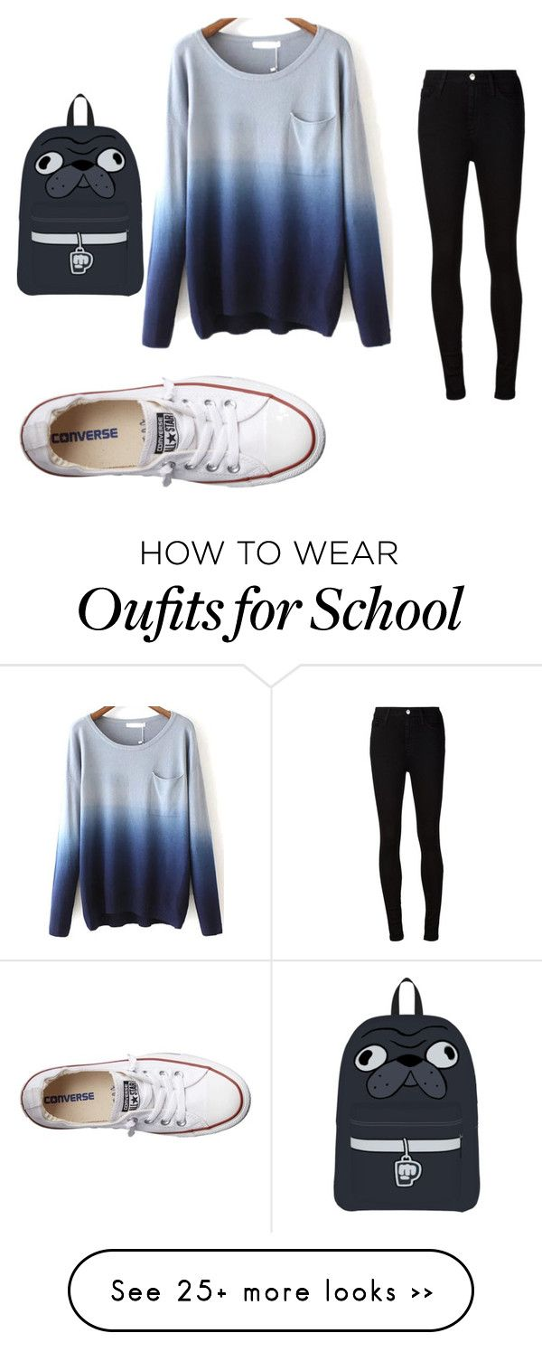 """school"" by chrisfashion21 on Polyvore featuring AG Adriano Goldschmied and Converse"