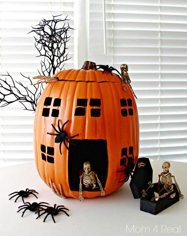 Pumpkin Decorating Ideas Using Foam Pumpkins (Funkins) @Jessica Kielman         {Mom 4 Real}