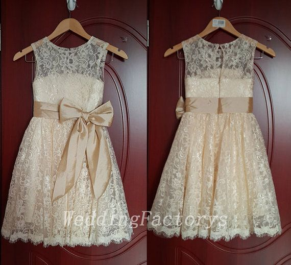 Hey, I found this really awesome Etsy listing at https://www.etsy.com/listing/196582745/short-lace-champagne-bridesmaid-dress