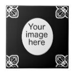 Black Spanish tile oval photo frame #weddinginspiration #wedding #weddinginvitions #weddingideas #bride