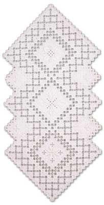 Spring Runner (Hardanger embroidery)