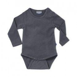 Infant bodysuit Glacier Grey. Natural basic for baby & toddler. (rompertje) http://silkylabel.nl/rompertjes/romper-korte-mouw.html