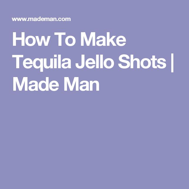 how to make tequila sunrise jello shots
