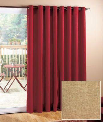 privacy patio door curtain