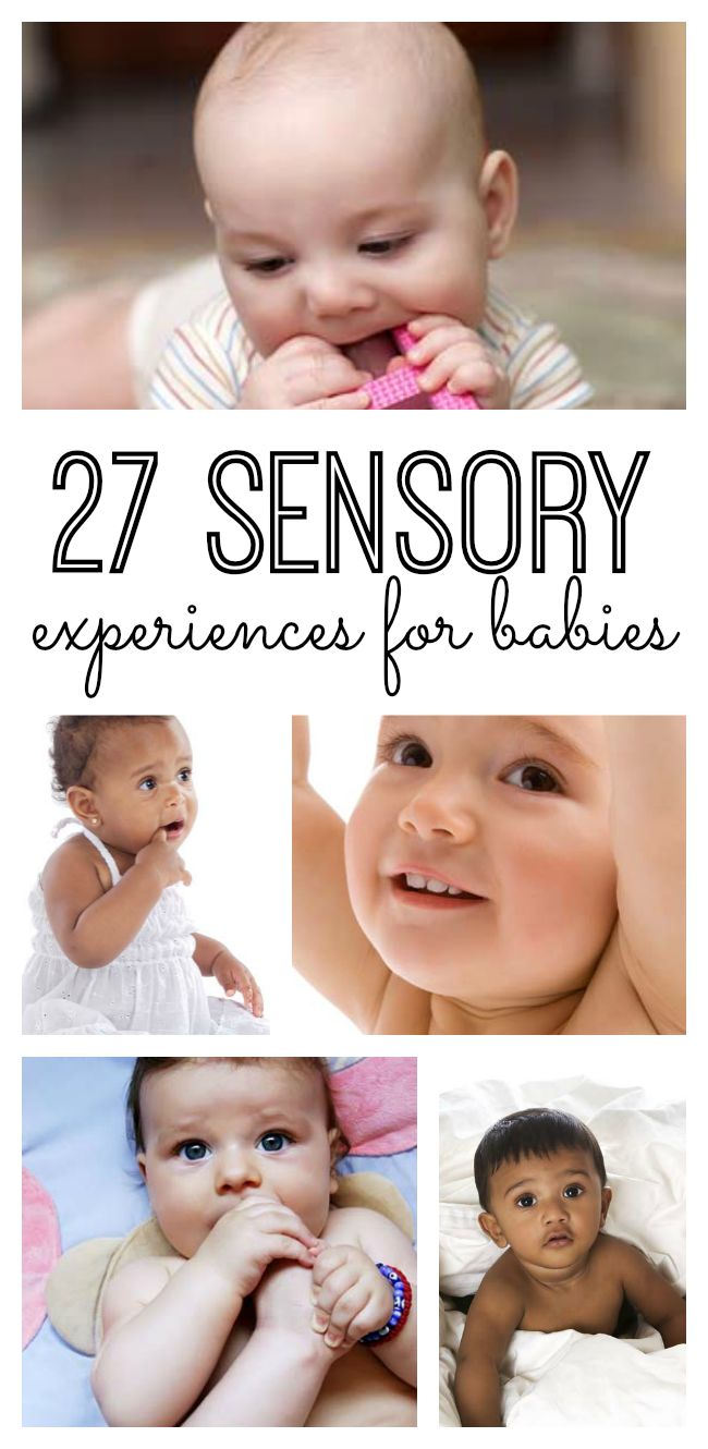 27 sensory experiences for babies to explore their environment through their five senses!