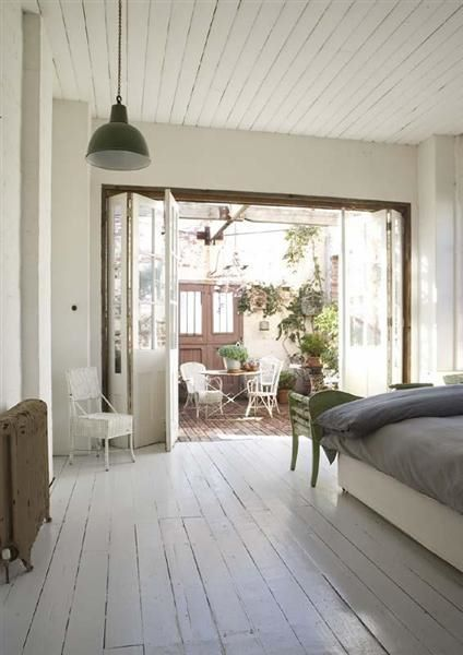 white floorboards and doors!