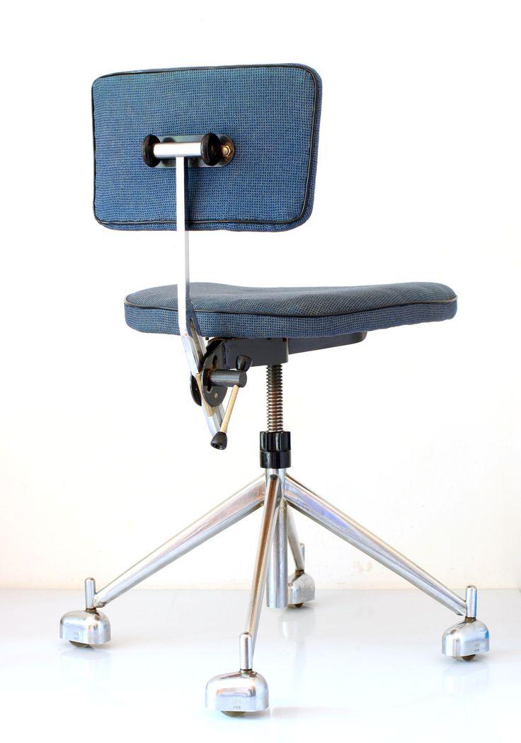KEVI adjustable retro office chair Scandinavian