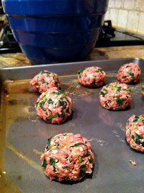 Ground turkey meatballs. My boyfriend enjoyed the turkey balls I made last time even though they were a bit bland. I'm going to give this recipe a shot and see if he likes it too! :)