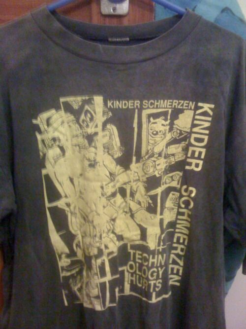 The story of Kinderschmerzen and their t-shirt