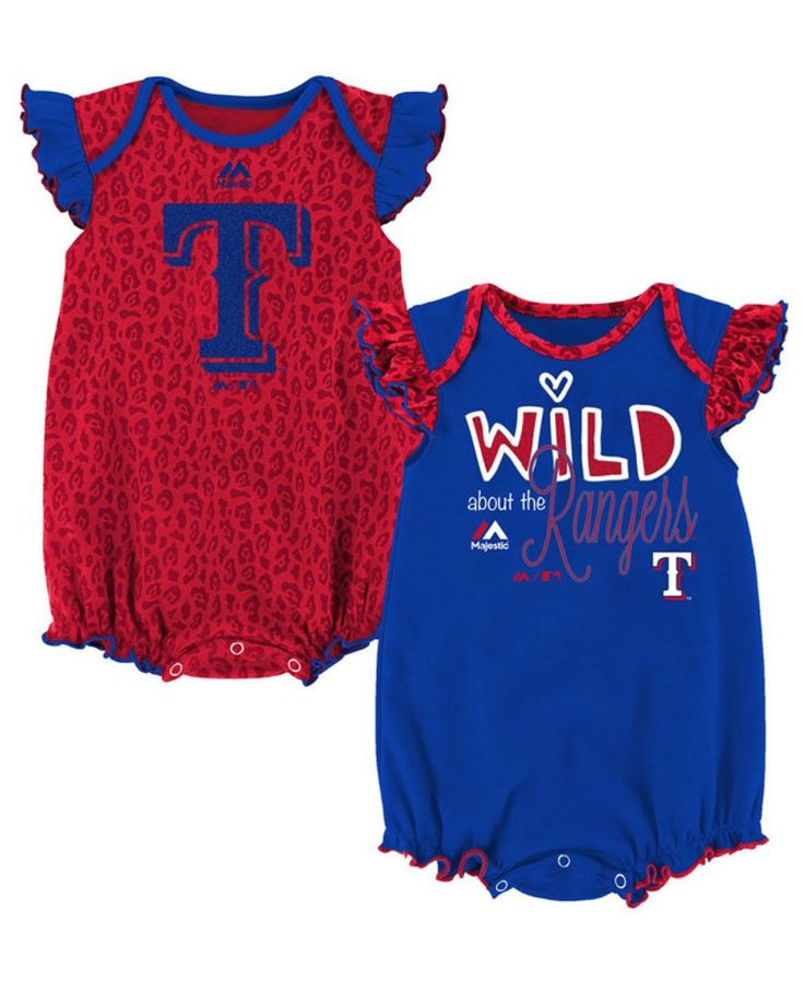 Majestic Texas Rangers Team Sparkle Creeper 2-Piece Set, Baby Girls (0-9 months)