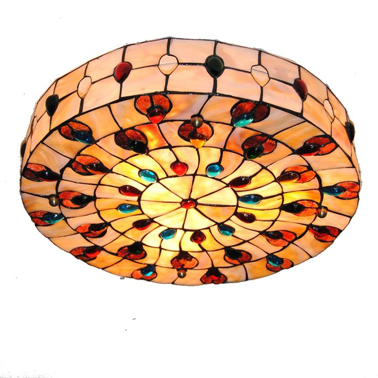 Cheerhuzz  Ретро богемный стиль, цвет Тиффани потолка  https://ru.aliexpress.com/store/product/18-inch-Retro-Tiffany-Ceiling-Lamp-European-Vintage-Shell-Shade-Flush-Mount-Lamps-Living-Room-Dining/1248587_32787810240.html?spm=2114.12010608.0.0.9nUxIj