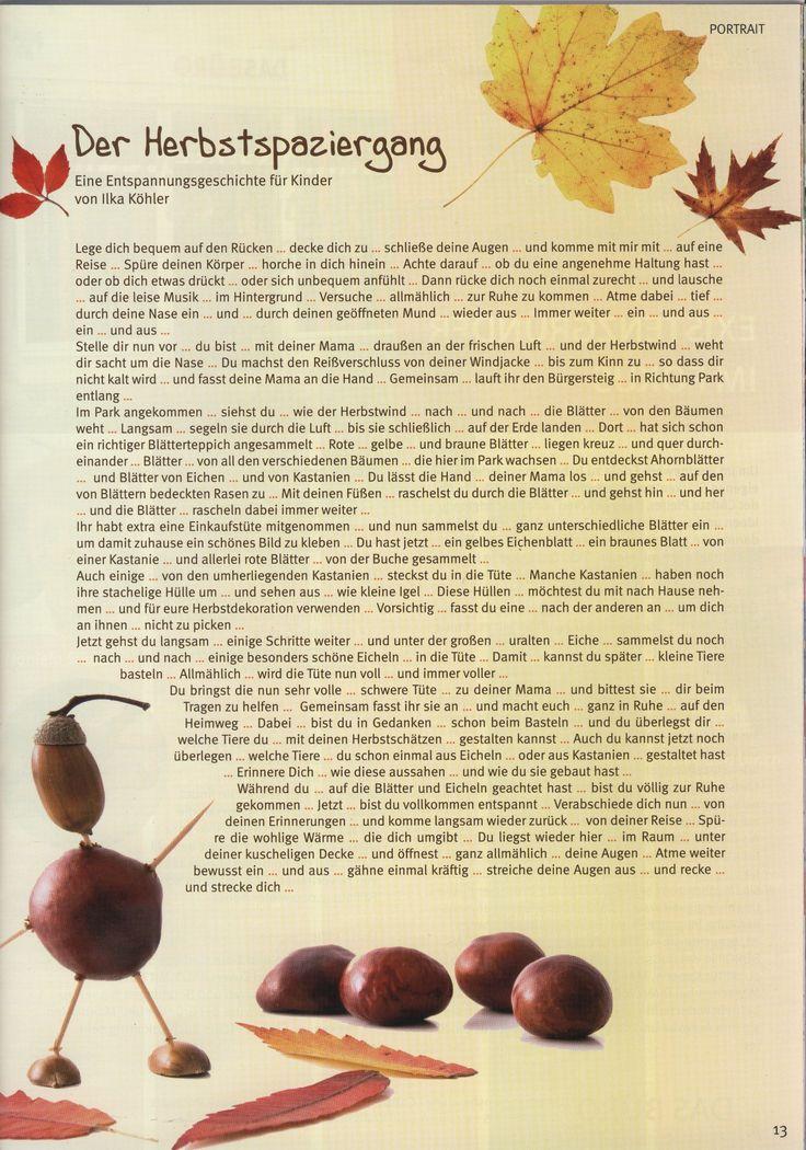 """""""Der Herbstspaziergang"""" aus meinen """"Entspannungsgeschichten für Kinder"""""""