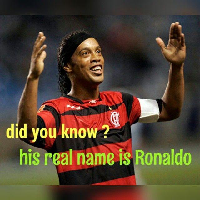 Ronaldo De Assis Moreira  . . هل تعلم ان اسمه الحقيقي هو رونالدو دي اسيس موريرا. . . . #soccer #football #goal #golazo #futbol #perfect #videooftheday #postoftheday #golaco #footballnews #football_news #fifa #fifabestplayeroftheyear #ronaldinho #ronaldinho10 #ronaldinhogaucho #brazil #flamengo #queretaro #ronaldo #ronaldodeassismoreira #thereisonlyoneronaldo