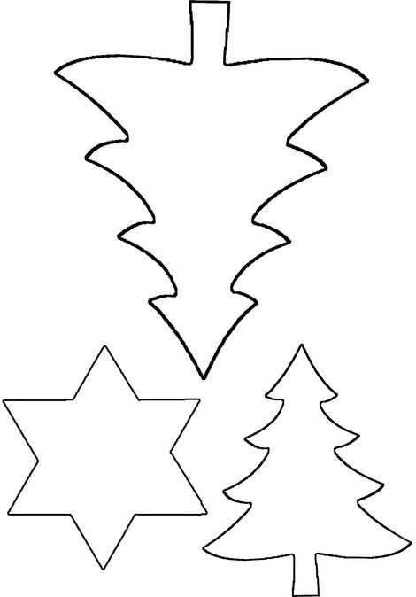 Vorlage für Sterne und Bäume