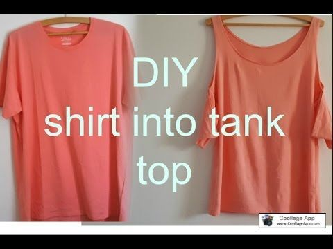 DIY HOW TO TRANSFORM A SHIRT TO TANK TOP