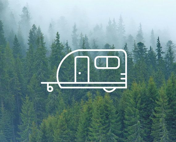 Camper Decal / Adventure Decal / Nature Decals / Laptop Decals / Car Decals / Computer Decals / MacBook Decals / Window Decals
