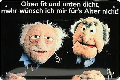 Muppets Oben fit und unten dicht Funny Spruch Blec…