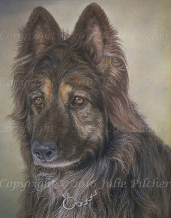 Original Custom Pet Portrait  Commission a 12 x 9 inch Single