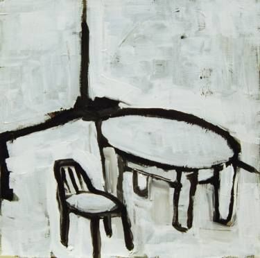 "Saatchi Art Artist Jan Valer; Painting, ""Still life # 7 (table and chair)"" #art"