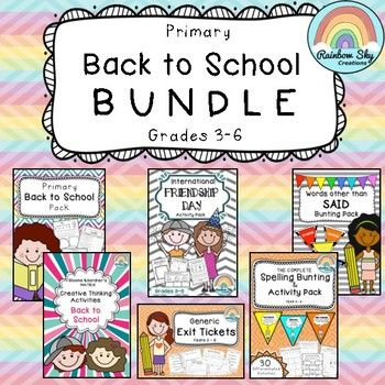 B2S BUNDLE - Includes 6 of our popular packs ideal for going back to to school. Numeracy, literacy, reflective and creative thinking activities. Suitable for Graces 3-6. ~ Rainbow Sky Creations ~