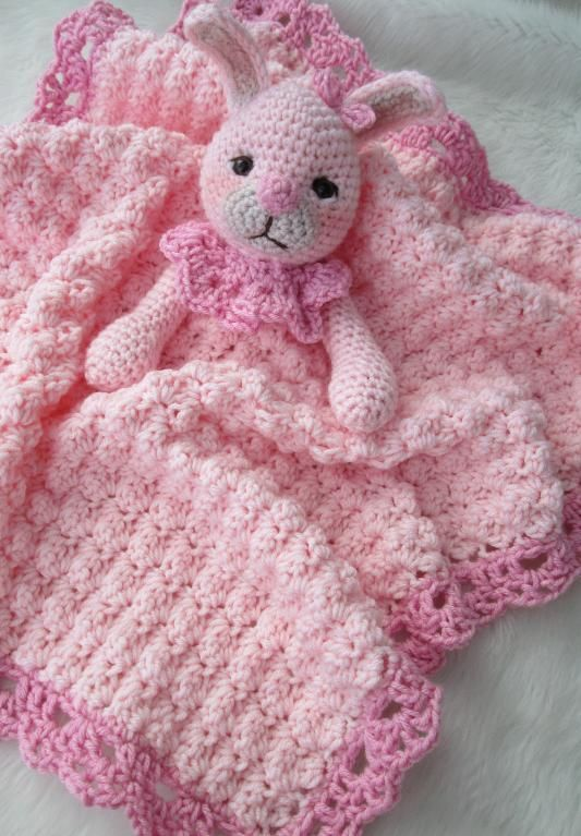 Free Crochet Pattern For Animal Security Blanket : 253 best images about Baby & Toddler Crochet - Blankets on ...
