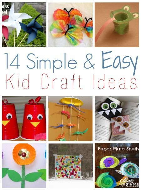 Simple and Easy Kid Craft Ideas with items you probably already have around the house!